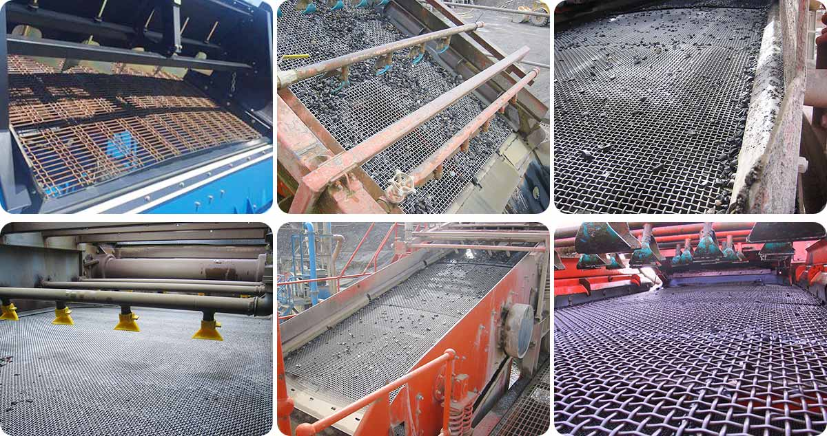 Quarry Screen mesh is widely used in vibrating screen machines to filter and separate sands, gravel, coal, stones, rocks and other wet and dry materials.